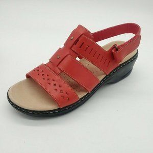 Clarks Lexi Qwin Leather Slingback Sandals 6.5 New